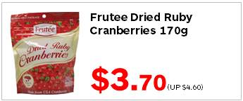 Frutee Dried Ruby Cranberries 170g 370