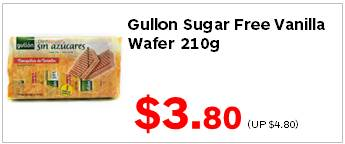 Gullon Sugar Free Vanilla Wafer 210g 380