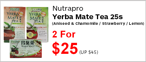 Nutrapro Yerba Mate Tea 25s 2 for $25