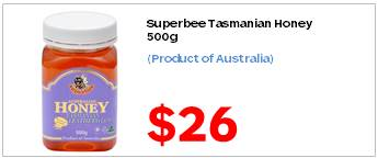 Superbee Tasmanian Honey 500g 2600