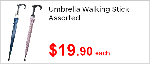 Assisted Living Umbrella Walking Stick assorted 1990