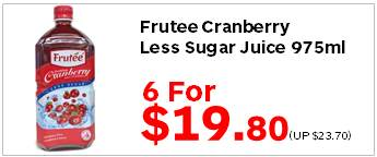 Frutee Cranberry LS Juice 975ml 6for1980