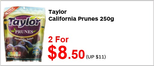 Taylor California Prunes 2for850
