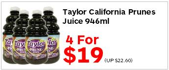 Taylor California Prunes Juice 946ml 4for19