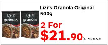 Lizis Granola Original 500g 2for2190