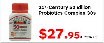 21C 50 Billion Probiotics Complex 30s 2795