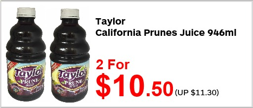 Taylor California Prunes Juice 946ml 2for1050
