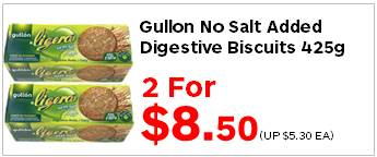 Gullon No Salt Added Digestive Biscuits 425g 2for850