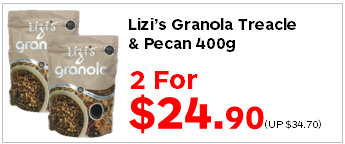 Lizis Granola Treacle n Pecan 400g 2for2490