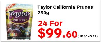 Taylor California Prunes 250g 24for9960