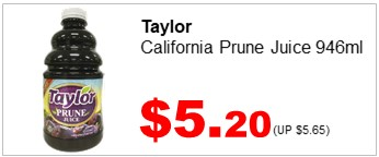 Taylor Prune Juice 946ml 520