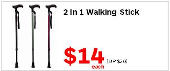 Assisted Living 2 in 1 Walking Stick 14