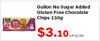 Gullon No Sugar Added Gluten Free Choc Chips 130g 310