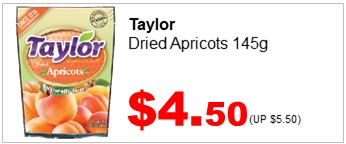 Taylor Dried Apricots 145g 450