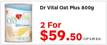 Dr Vital Oat Plus 800g 2for5950