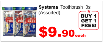 SYSTEMA TOOTHBRUSH 3S buy1free1