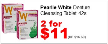 PEARLIE W DENTURECLEAN DENTURE CLEANSING TABS 42S 2for11