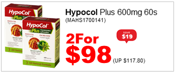 HYPOCOL PLUS 600MG 60S 2for98