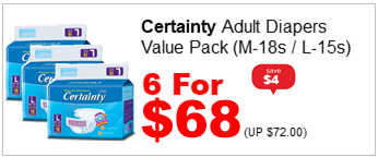 Certainty Adult Diapers Value Pack Large 15s 6for68