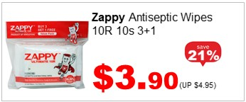 ZAPPY BOY ANTISEPTIC WIPES 10R 10S 3n1 390