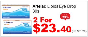 ARTELAC LIPIDS EYE DROP 30S 2for2340