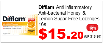 Difflam Lozenge Honey n Lemon 16s 1520