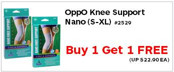 Oppo Knee Support Nano 2529 buy get 1 free 2290each