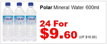 Polar Mineral Water 600ml 24for960