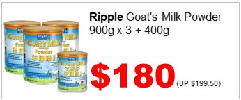 Ripple Goat Milk Powder 900gx3 n GMP 400g 180