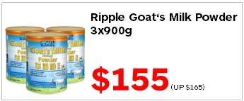 Ripple Goats Milk Powder 900gx3 155
