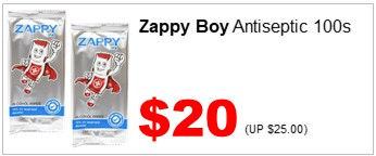 Zappy Boy Alcohol Wipes 100s 2000
