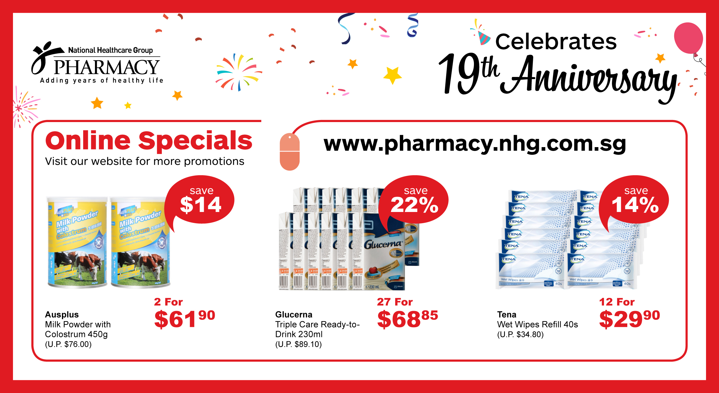 19th Anniversary Online Specials Deals